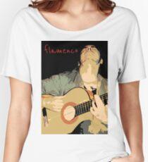 Flamenco guitarra Camiseta ancha para mujer