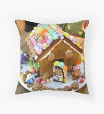 Easter Gingerbread House Throw Pillow