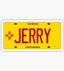 New Mexico License Plate - Jerry Edition Sticker
