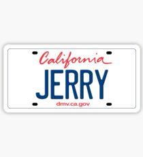 California License Plate - Jerry Edition Sticker