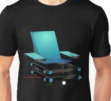 Glitch furniture armchair blue modern box chair Unisex T-Shirt