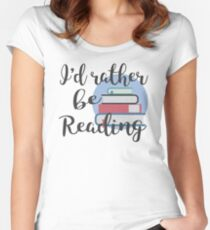 Rather Be Reading Women's Fitted Scoop T-Shirt