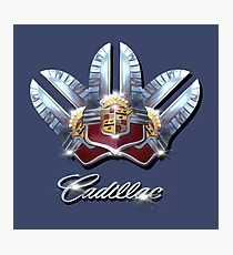 Cadillac Chrome emblem Design by MotorManiac. Photographic Print