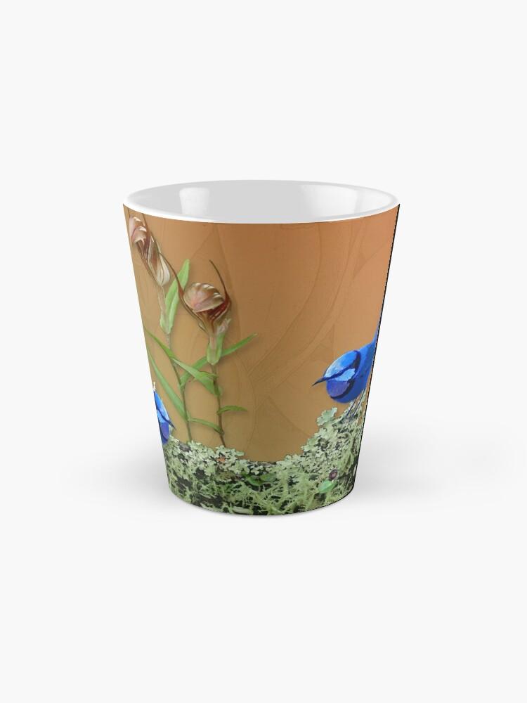 Alternate view of Blue Wrens & Winter Orchids Western Australia Mug