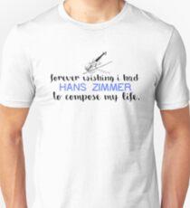 Hans Zimmer Typography Art Unisex T-Shirt