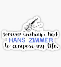 Hans Zimmer Typography Art Sticker
