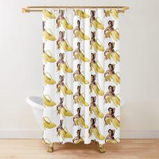 Nicolas-Käfig in einer Banane - ursprüngliches Gelb Duschvorhang