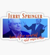 Jerry Springer Retro 90s Sticker