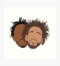 J. Cole und Kendrick Lamar Kunstdruck