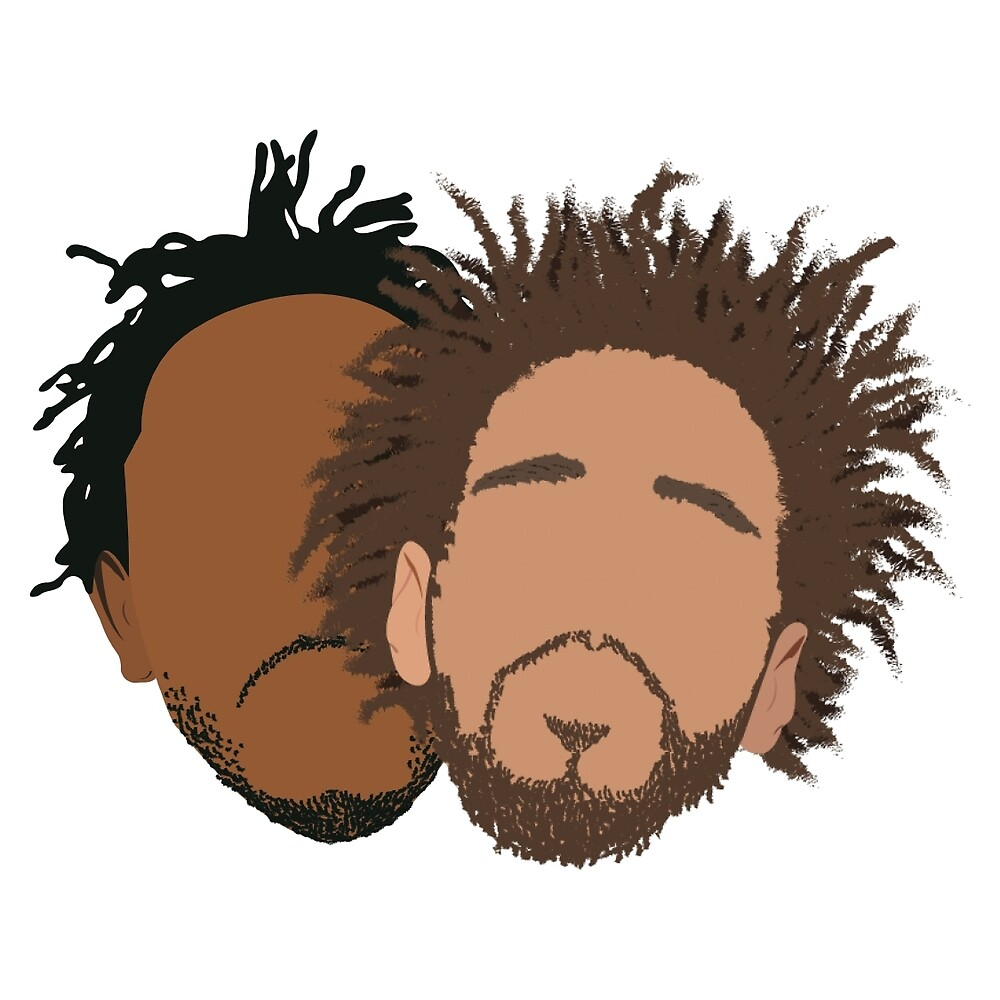 J.Cole and Kendrick Lamar by Tim Schools