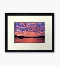 Goose Bump Sunset Framed Print