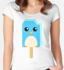 Cute Penguin Popsicle  Women's Fitted Scoop T-Shirt