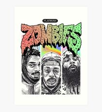Flatbush Zombies Art Print