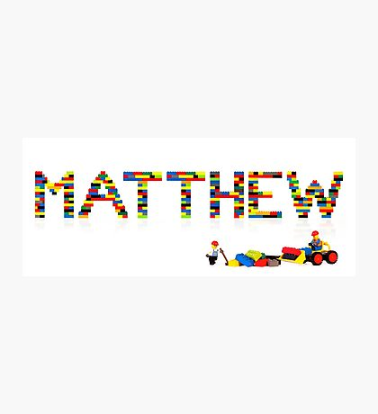 Matthew Photographic Print