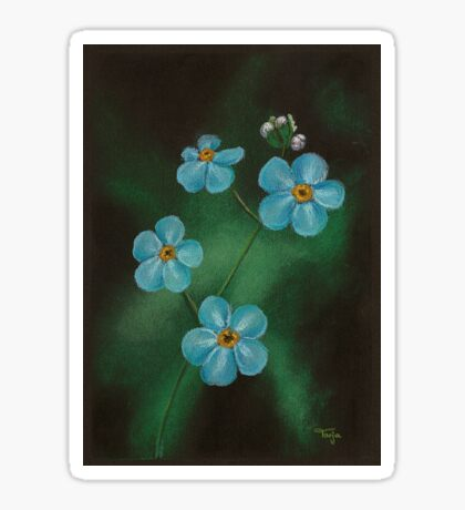 Blue Blossoms Sticker