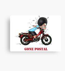GONE POSTAL POSTIE BIKE MOTORCYCLE Canvas Print