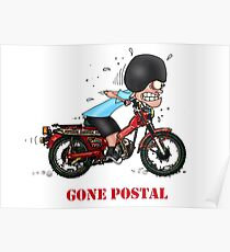 GONE POSTAL POSTIE BIKE MOTORCYCLE Poster