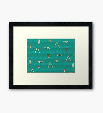 Swimfest Framed Print