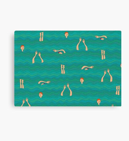 Swimfest Canvas Print