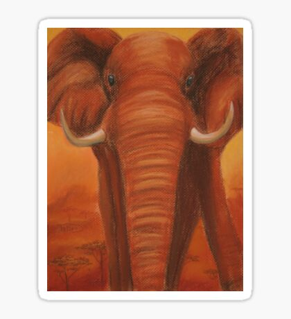 Posing Elephant Sticker