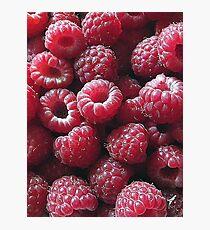 Raspberries close up Photographic Print