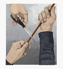 Hands and scissors Photographic Print