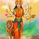 Durga Göttin von Alena Lazareva