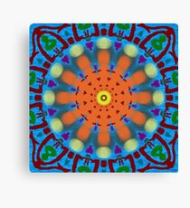 Oil and Water Kaleidoscope  Canvas Print