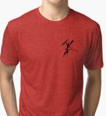 "Brush art ""Dragonfly"" Tri-blend T-Shirt"