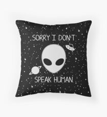 Alien! Throw Pillow