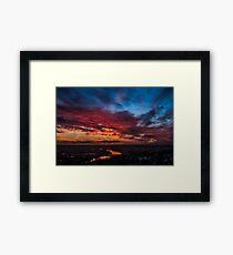Sky clouds beauty Framed Print