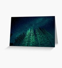 Nature Forest - Night Star Signal Greeting Card