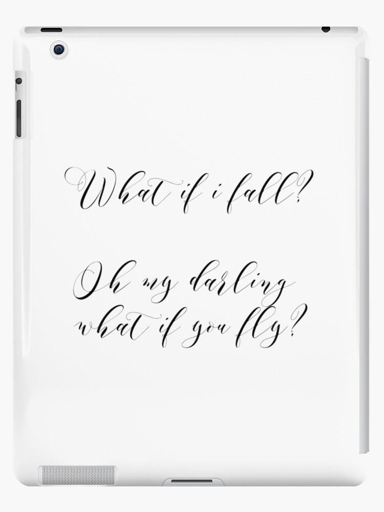 Printable Artquote Printtypography Poster What If I Fall Oh My