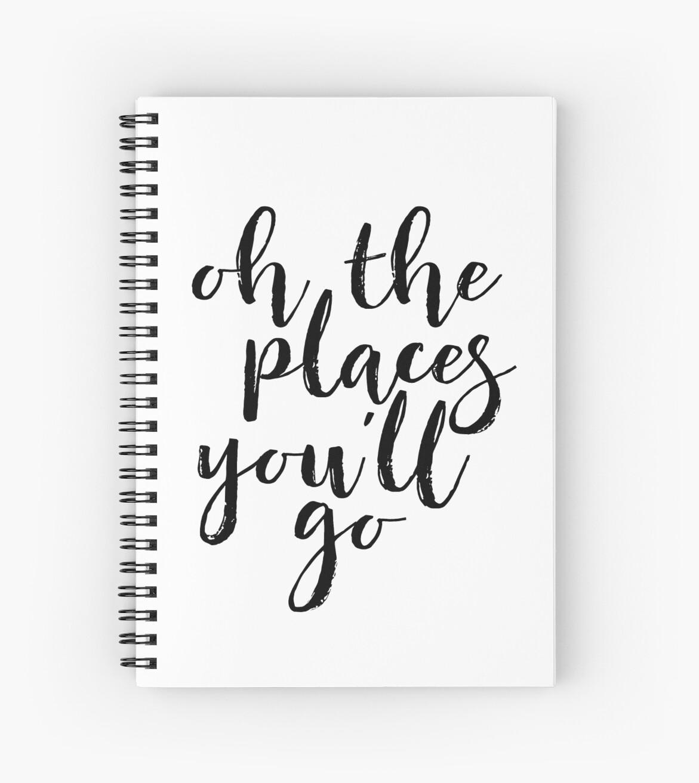 Cuadernos de espiral «oh, los lugares en los que irás al arte de la ...