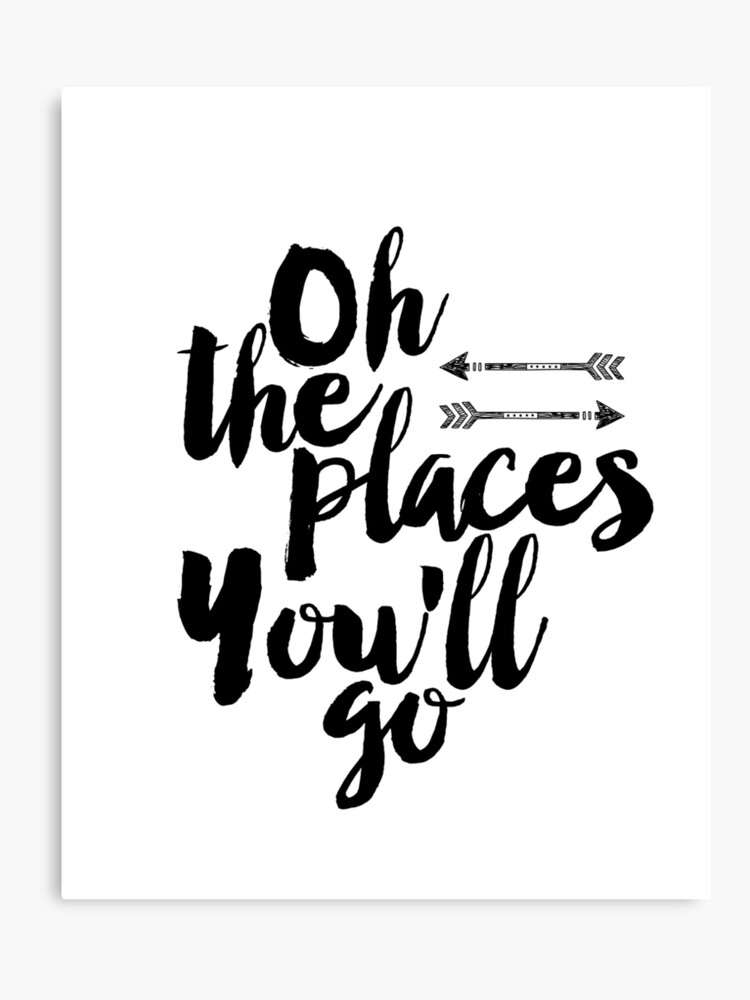 Oh The Places Youll Goprintable Quote Scandinavian Poster
