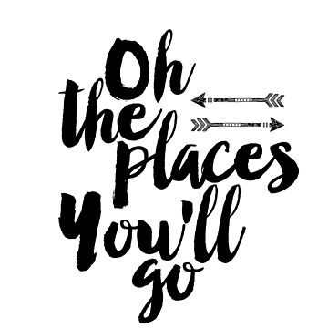 Oh the places you'll go,Printable quote, Scandinavian poster,Motivational, Quote poster, Printable poster, Wall art by NathanMoore