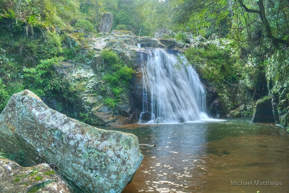 Rainbow Falls in the Macquarie Pass National Park by Michael Matthews