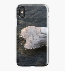 Icy Island - Drifting Solo on Silky Grays iPhone Case/Skin