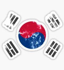 Pegatina Bandera de Corea del Sur