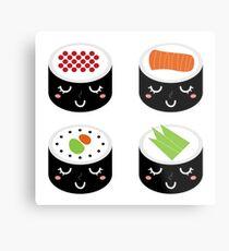 Ladies sushi : black n white Metal Print