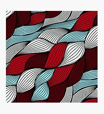 Red blue knit Photographic Print