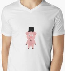 Groom Pig with Hat and bow tie T-Shirt