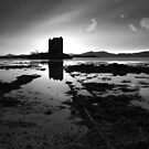 Caisteal an Stalcaire in Mono by Jeanie
