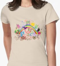 Peace - Colorful Mash-up Womens Fitted T-Shirt