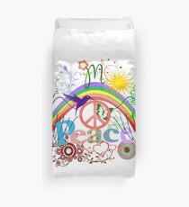 Peace - Colorful Mash-up Duvet Cover
