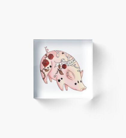 Tattoo Pig Acrylic Block