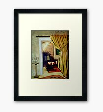 Hearth and Home, the Parlour Framed Print