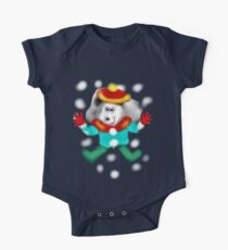 DOLORES LOVES THE WINTER SNOW  One Piece - Short Sleeve
