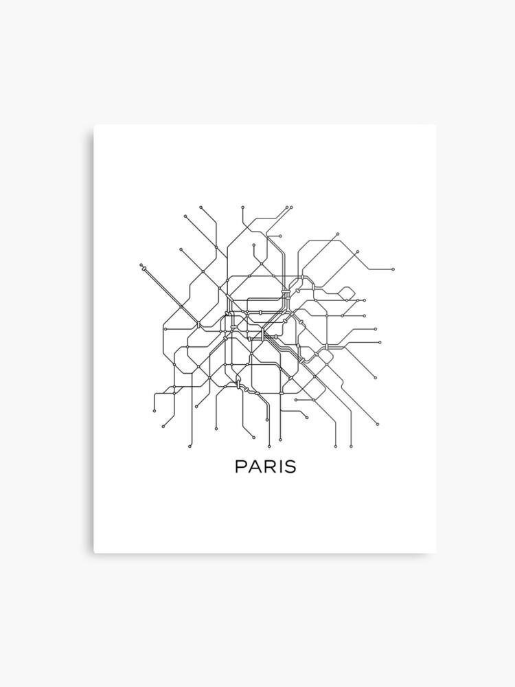 Black And White Subway Map.Paris Subway Map Black White Lines Vintage Map Retro Print Paris Metro Map Poster Paris Map Printable Metro Map Subway Paris Subway Map Metal