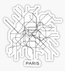 Paris Metro Map: Stickers | Redbubble